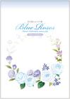花の刺しゅう メモ帳 Blue Roses