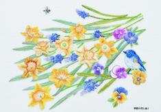 ポストカード 季節の花と鳥Ⅰ